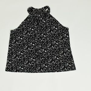 Lane Bryant Plus 22/24 Black   Blouse Polyester so